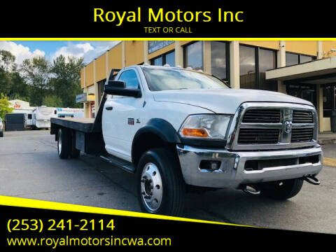 2012 RAM Ram Chassis 5500 for sale at Royal Motors Inc in Kent WA