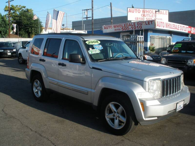 2008 Jeep Liberty for sale at AUTO WHOLESALE OUTLET in North Hollywood CA