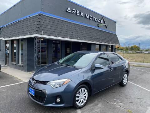 2015 Toyota Corolla for sale at Apex Motors in Murray UT