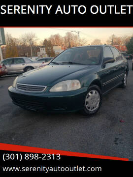 2000 Honda Civic for sale at SERENITY AUTO OUTLET in Frederick MD