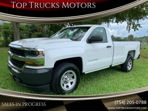 2016 Chevrolet Silverado 1500 for sale at Top Trucks Motors in Pompano Beach FL