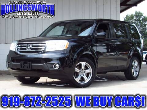 2012 Honda Pilot for sale at Hollingsworth Auto Sales in Raleigh NC