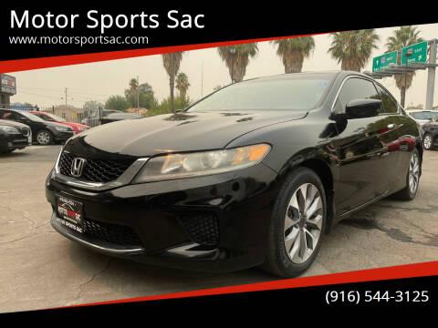 2014 Honda Accord for sale at Motor Sports Sac in Sacramento CA