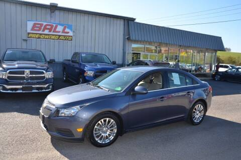 2014 Chevrolet Cruze for sale at Ball Pre-owned Auto in Terra Alta WV