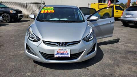 2016 Hyundai Elantra for sale at Oxnard Auto Brokers in Oxnard CA