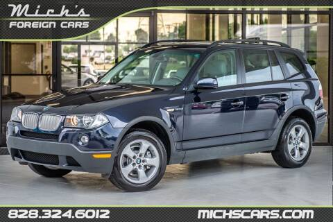 2007 BMW X3 for sale at Mich's Foreign Cars in Hickory NC
