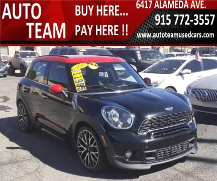 2013 MINI Countryman for sale at AUTO TEAM in El Paso TX