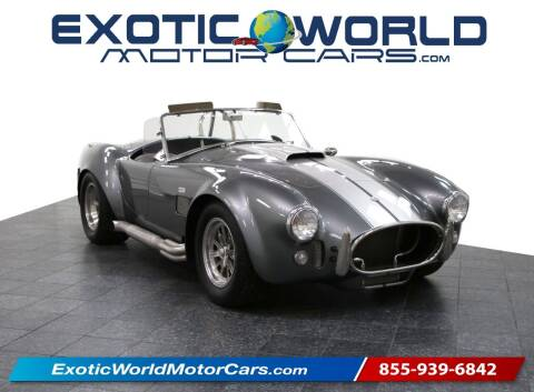 2005 Superformance Shelby Cobra for sale at Exotic World Motor Cars in Addison TX