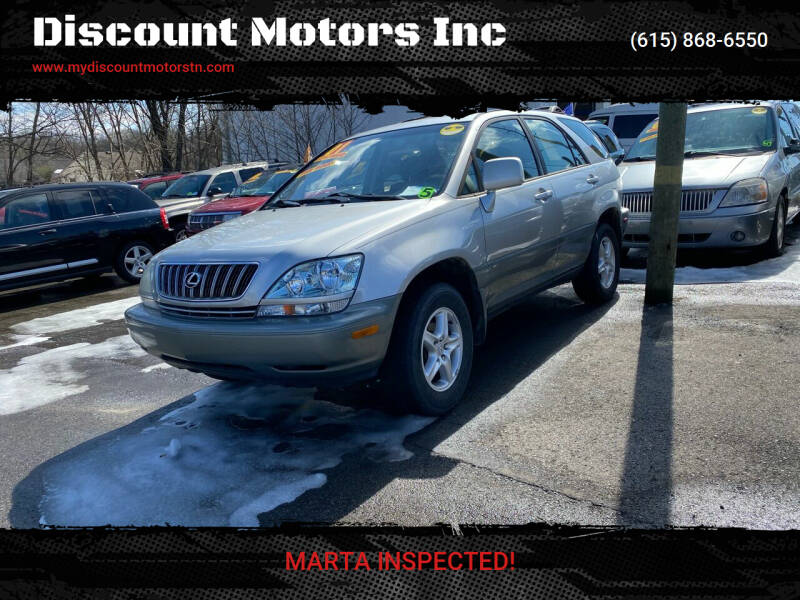 2001 Lexus RX 300 for sale at Discount Motors Inc in Madison TN