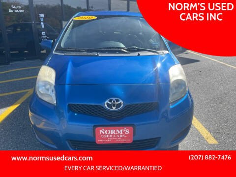 2010 Toyota Yaris for sale at NORM'S USED CARS INC in Wiscasset ME
