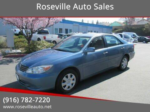 2003 Toyota Camry for sale at Roseville Auto Sales in Roseville CA