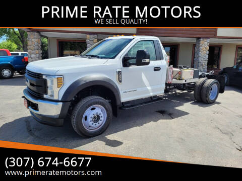 2019 Ford F-550 for sale at PRIME RATE MOTORS in Sheridan WY
