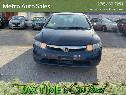 2007 Honda Civic for sale at Metro Auto Sales in Lawrence MA