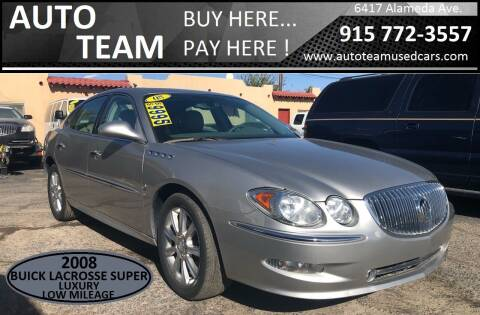 2008 Buick LaCrosse for sale at AUTO TEAM in El Paso TX
