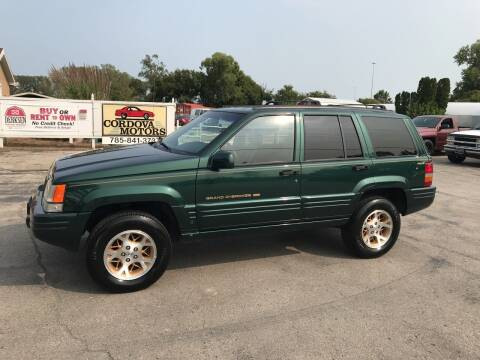 1997 Jeep Grand Cherokee for sale at Cordova Motors in Lawrence KS