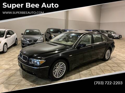 2004 BMW 7 Series for sale at Super Bee Auto in Chantilly VA