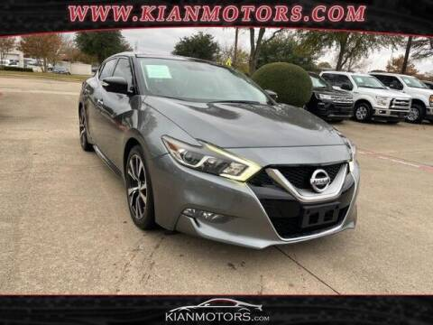 2016 Nissan Maxima for sale at KIAN MOTORS INC in Plano TX