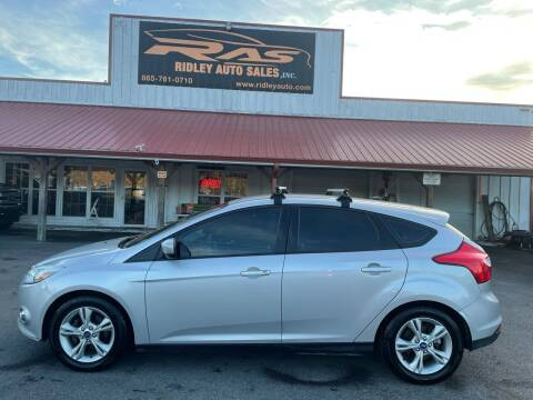2012 Ford Focus for sale at Ridley Auto Sales, Inc. in White Pine TN