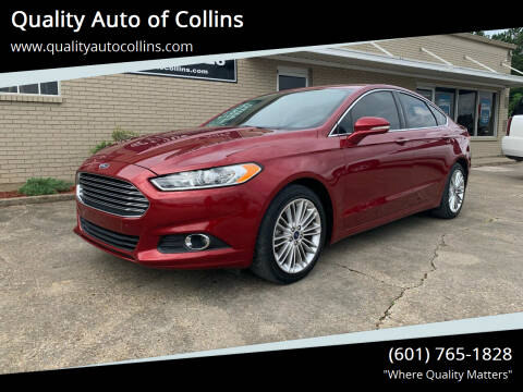 2016 Ford Fusion for sale at Quality Auto of Collins in Collins MS