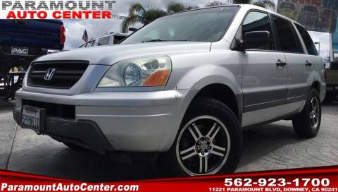 2005 Honda Pilot for sale at PARAMOUNT AUTO CENTER in Downey CA