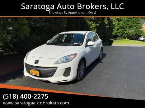 2013 Mazda MAZDA3 for sale at Saratoga Auto Brokers, LLC in Wilton NY