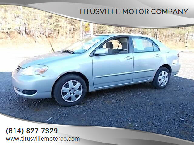 2007 Toyota Corolla for sale at Titusville Motor Company in Titusville PA