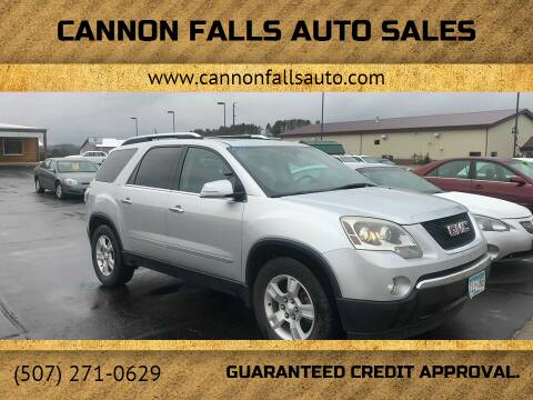 2009 GMC Acadia for sale at Cannon Falls Auto Sales in Cannon Falls MN