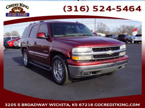 2002 Chevrolet Tahoe for sale at Credit King Auto Sales in Wichita KS