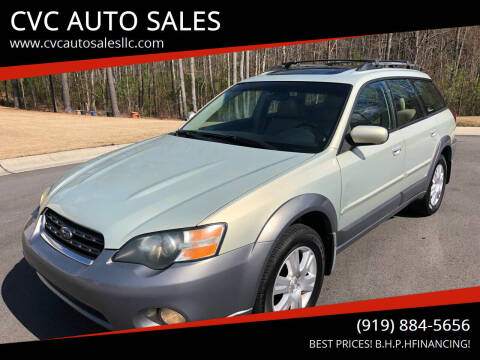 2005 Subaru Outback for sale at CVC AUTO SALES in Durham NC