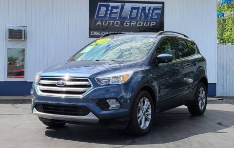 2018 Ford Escape for sale at DeLong Auto Group in Tipton IN