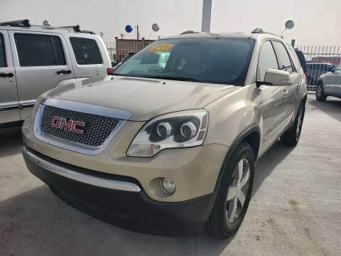 2012 GMC Acadia for sale at Hugo Motors INC in El Paso TX