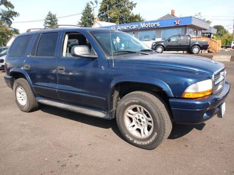 2002 Dodge Durango for sale at All American Motors in Tacoma WA