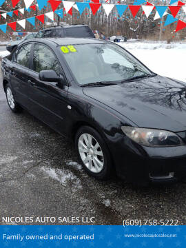 2008 Mazda MAZDA3 for sale at NICOLES AUTO SALES LLC in Cream Ridge NJ