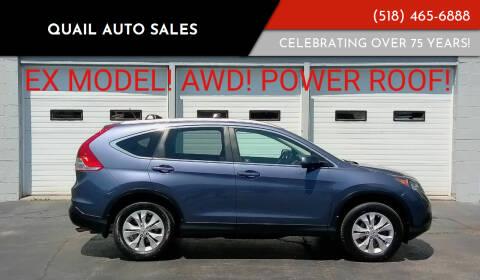 2012 Honda CR-V for sale at Quail Auto Sales in Albany NY
