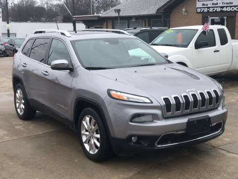 2015 Jeep Cherokee for sale at Safeen Motors in Garland TX