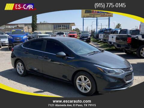 2018 Chevrolet Cruze for sale at Escar Auto in El Paso TX