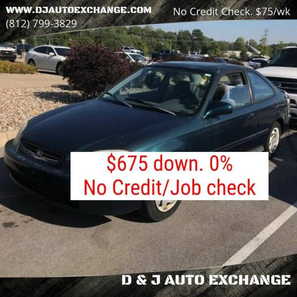 1997 Honda Civic for sale at D & J AUTO EXCHANGE in Columbus IN