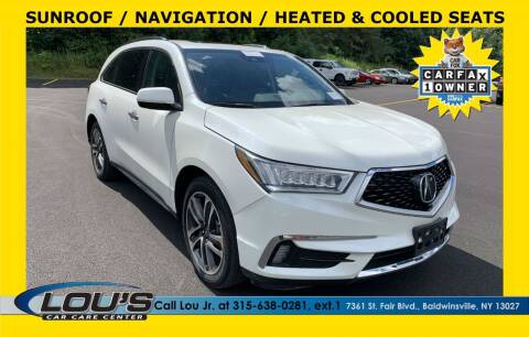 2017 Acura MDX for sale at LOU'S CAR CARE CENTER in Baldwinsville NY