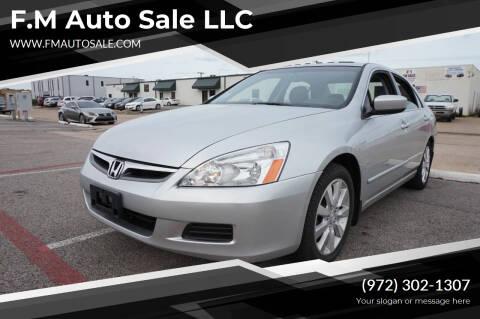2006 Honda Accord for sale at F.M Auto Sale LLC in Dallas TX