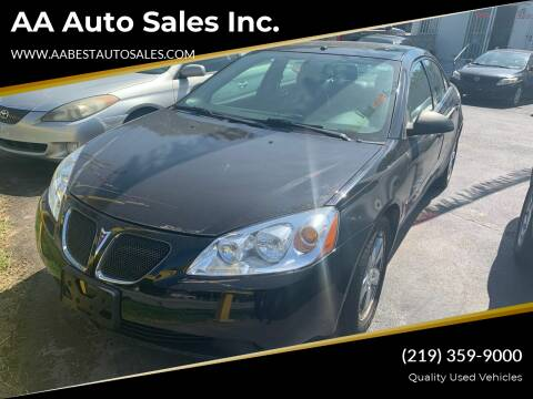 2006 Pontiac G6 for sale at AA Auto Sales Inc. in Gary IN