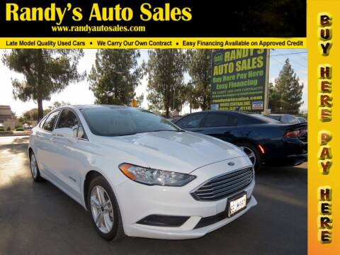 2018 Ford Fusion Hybrid for sale at Randy's Auto Sales in Ontario CA
