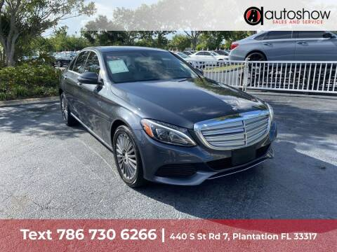 2016 Mercedes-Benz C-Class for sale at AUTOSHOW SALES & SERVICE in Plantation FL