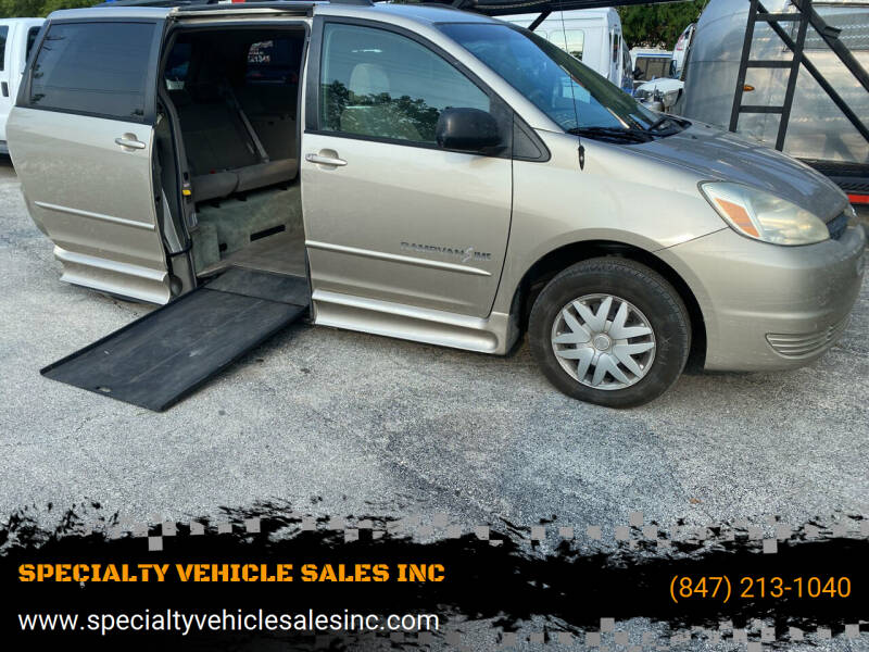 2004 Toyota Sienna for sale at SPECIALTY VEHICLE SALES INC in Skokie IL