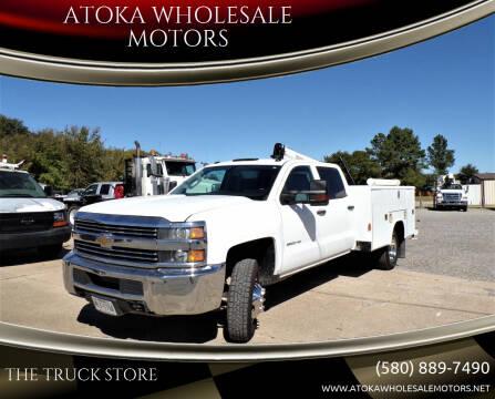 2015 Chevrolet Silverado 3500HD CC for sale at ATOKA WHOLESALE MOTORS in Atoka OK
