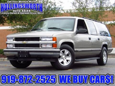 1999 Chevrolet Suburban for sale at Hollingsworth Auto Sales in Raleigh NC