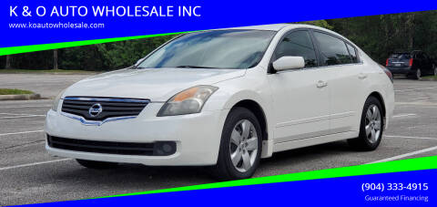 2008 Nissan Altima for sale at K & O AUTO WHOLESALE INC in Jacksonville FL