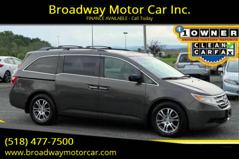 2012 Honda Odyssey for sale at Broadway Motor Car Inc. in Rensselaer NY