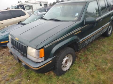 1993 Jeep Grand Cherokee for sale at JMG MOTORS in Lynden WA