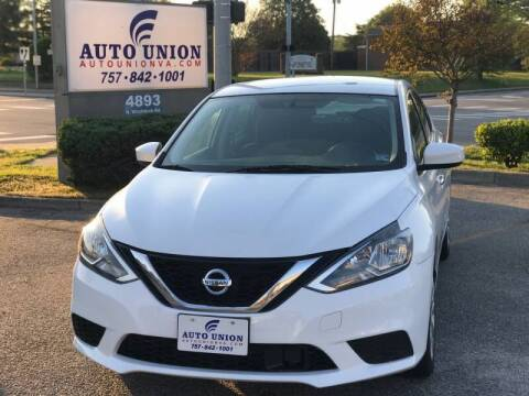 2018 Nissan Sentra for sale at Auto Union LLC in Virginia Beach VA