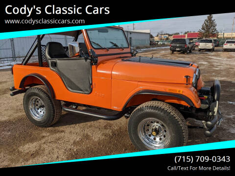 1978 Jeep CJ-5 for sale at Cody's Classic Cars in Stanley WI